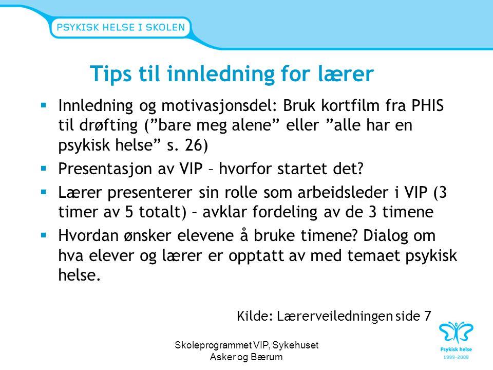 Tips til innledning for lærer