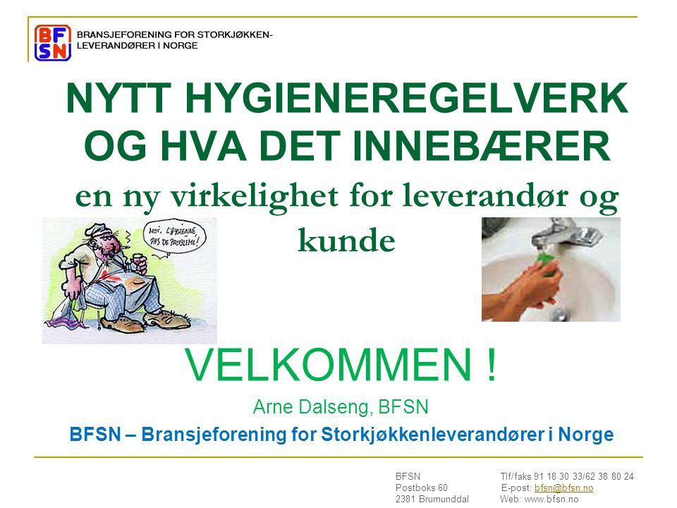 BFSN – Bransjeforening for Storkjøkkenleverandører i Norge