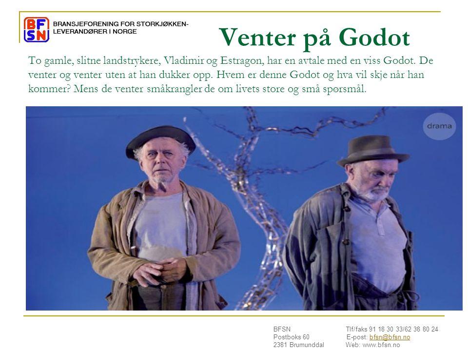 Venter på Godot To gamle, slitne landstrykere, Vladimir og Estragon, har en avtale med en viss Godot.