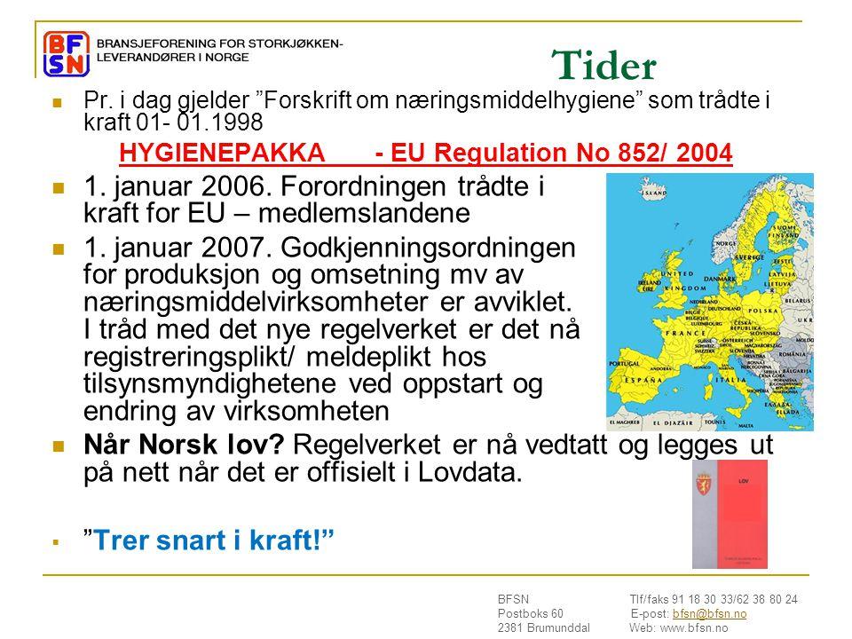 HYGIENEPAKKA - EU Regulation No 852/ 2004