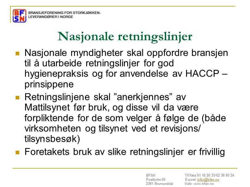 Nasjonale retningslinjer
