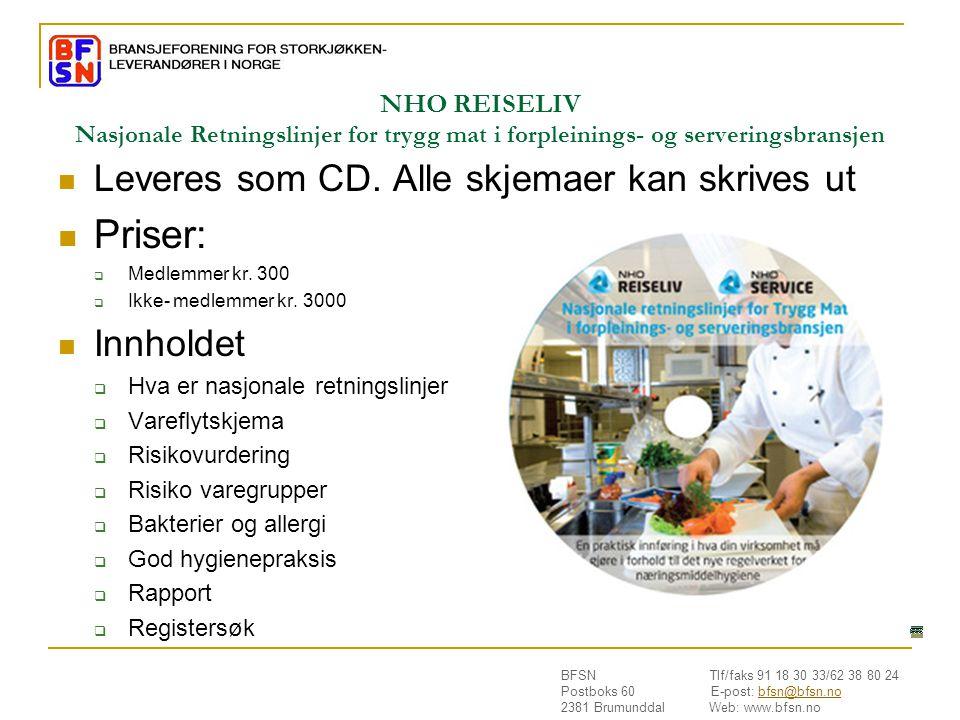 Priser: Leveres som CD. Alle skjemaer kan skrives ut Innholdet
