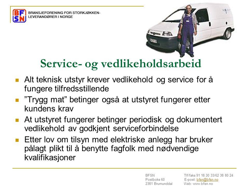 Service- og vedlikeholdsarbeid