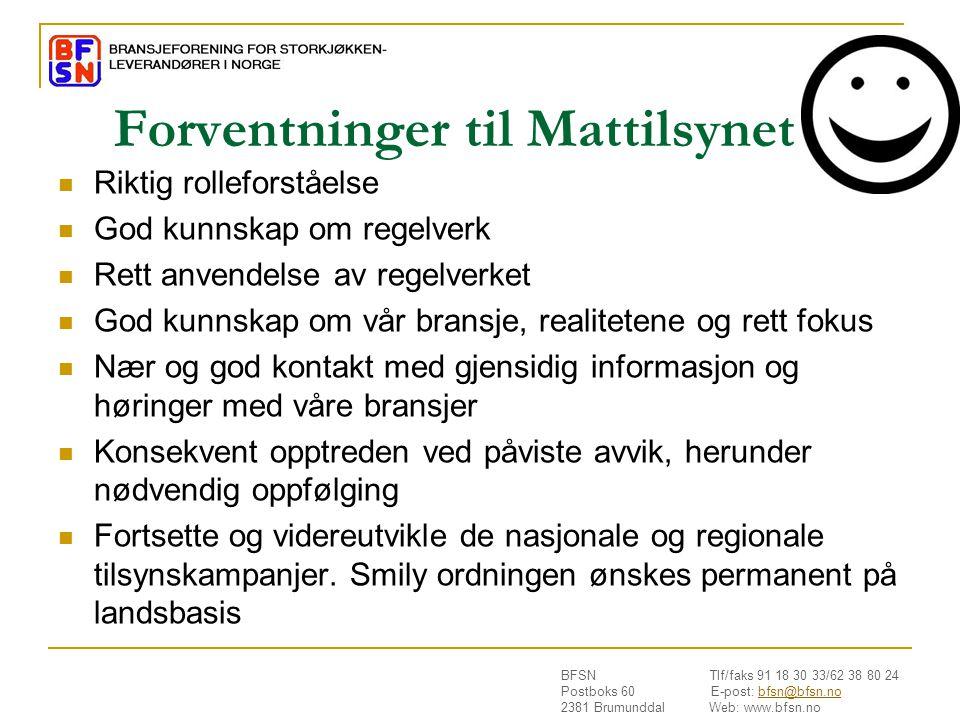 Forventninger til Mattilsynet
