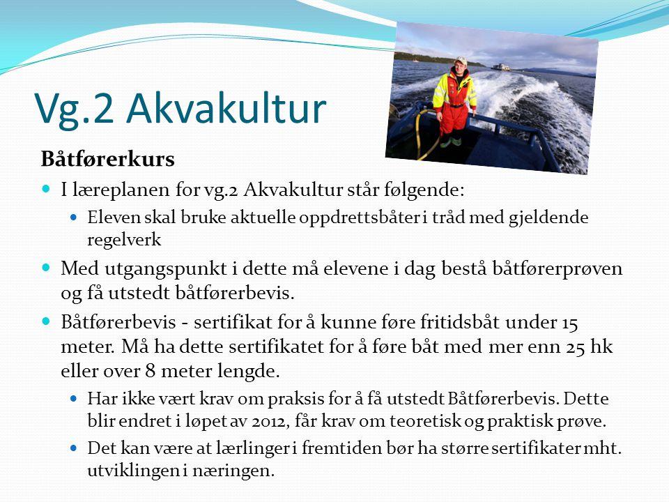 Vg.2 Akvakultur Båtførerkurs