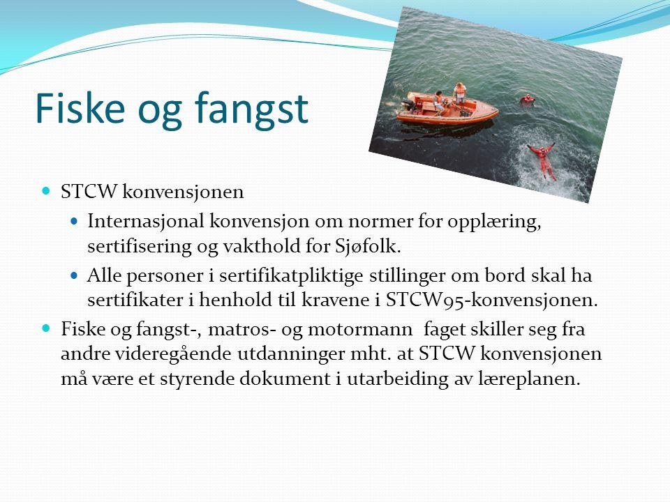 Fiske og fangst STCW konvensjonen