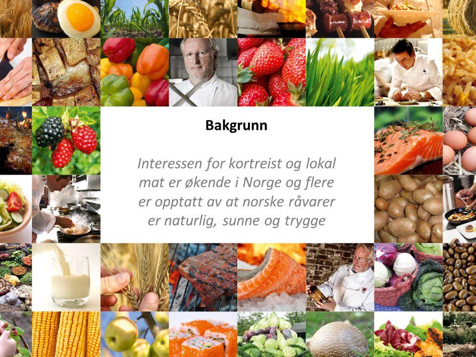Bakgrunn Interessen for kortreist og lokal mat er økende i Norge og flere er opptatt av at norske råvarer er naturlig, sunne og trygge.
