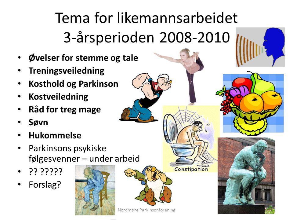 Tema for likemannsarbeidet 3-årsperioden 2008-2010
