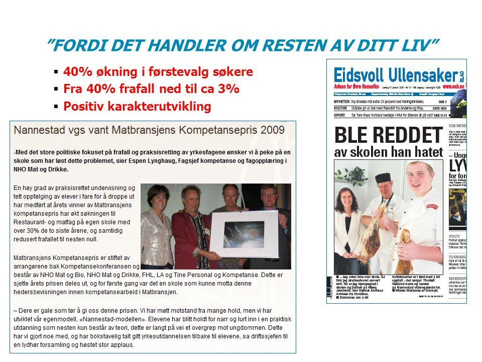 FORDI DET HANDLER OM RESTEN AV DITT LIV