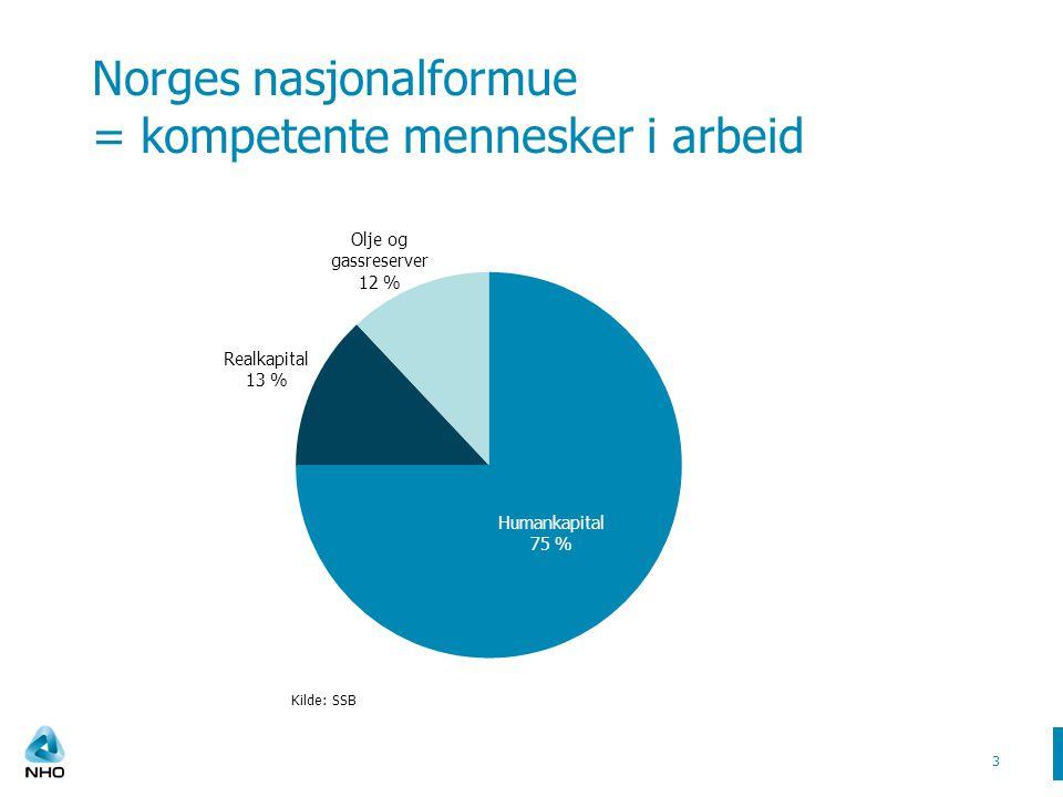 Norges nasjonalformue = kompetente mennesker i arbeid