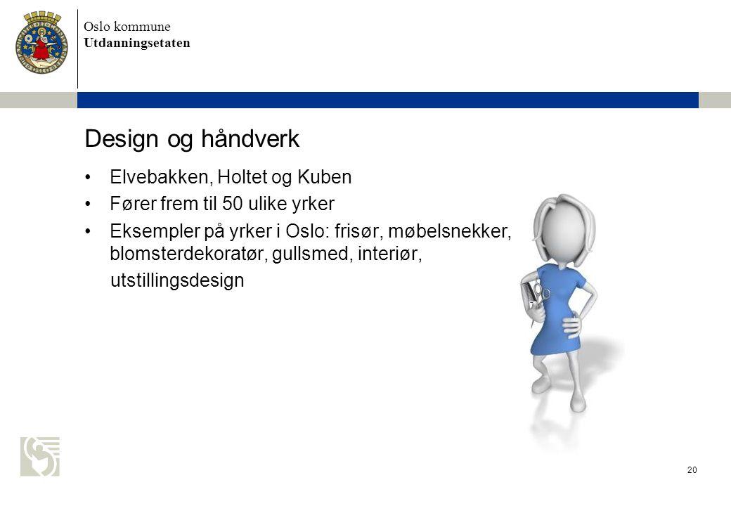 Design og håndverk Elvebakken, Holtet og Kuben