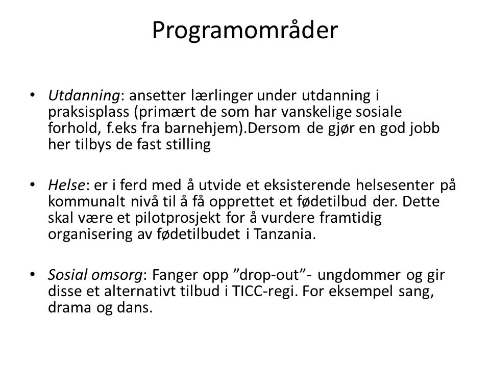 Programområder