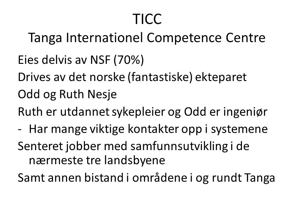 TICC Tanga Internationel Competence Centre