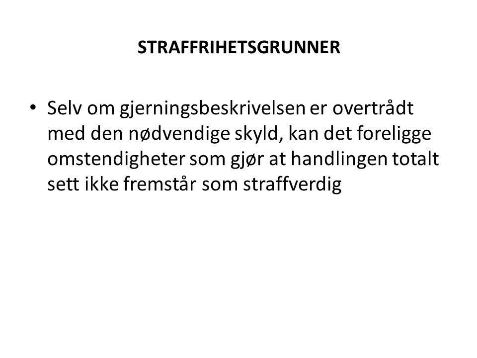 STRAFFRIHETSGRUNNER
