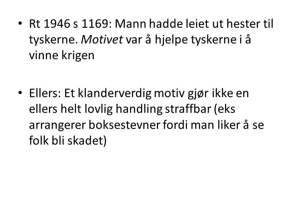 Rt 1946 s 1169: Mann hadde leiet ut hester til tyskerne