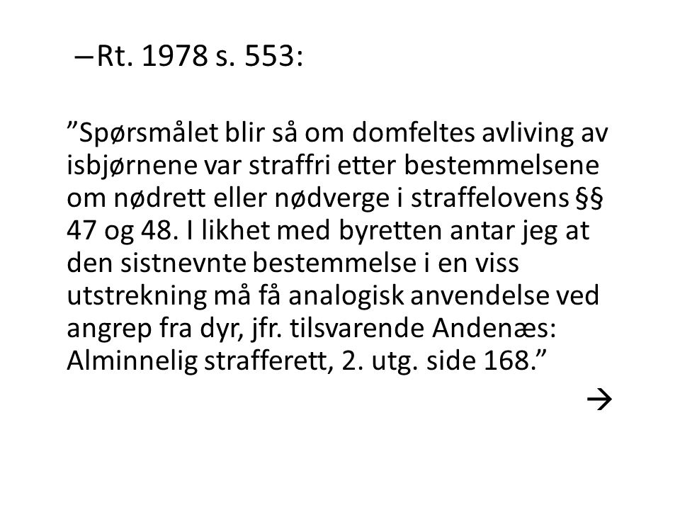Rt. 1978 s. 553: