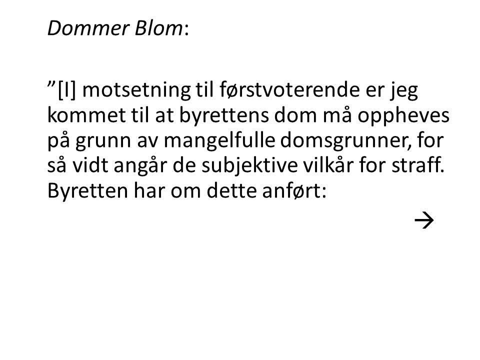 Dommer Blom: