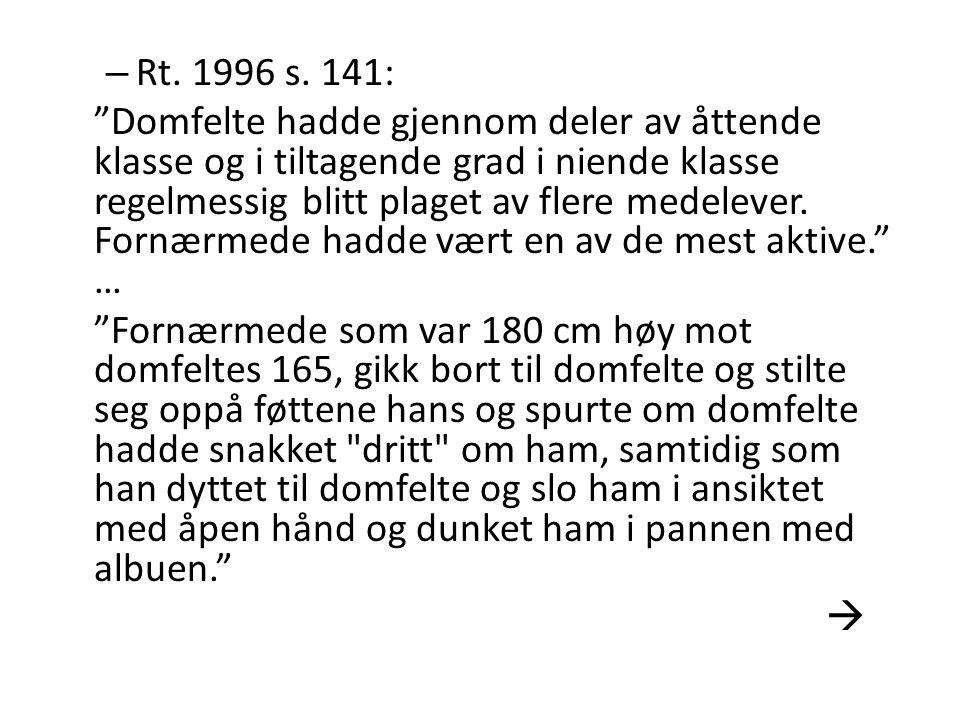 Rt. 1996 s. 141: