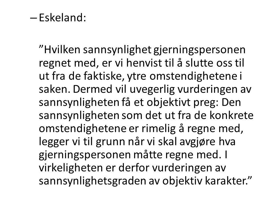 Eskeland: