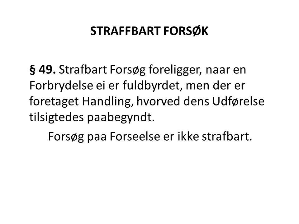 STRAFFBART FORSØK