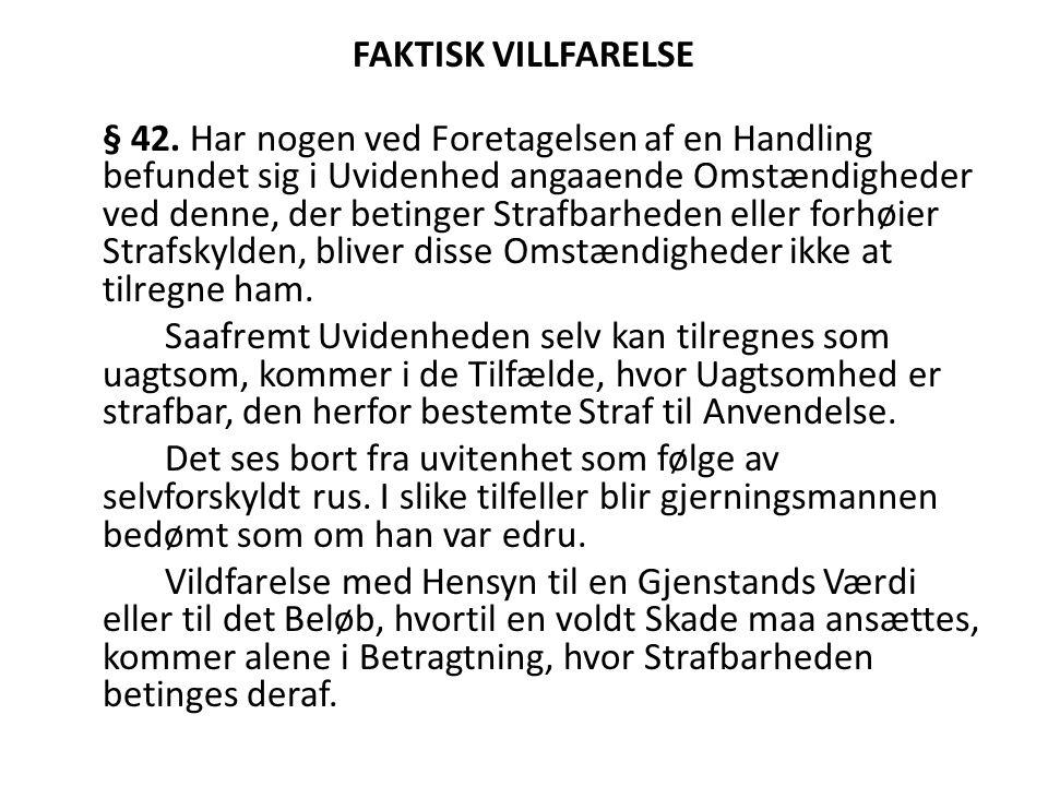 FAKTISK VILLFARELSE