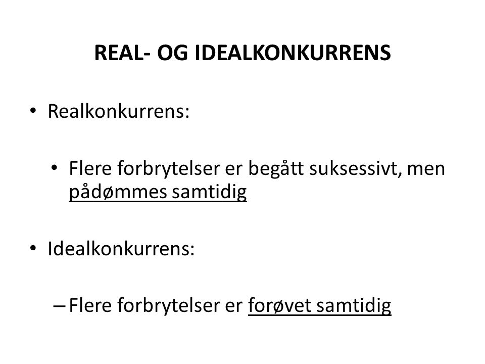 REAL- OG IDEALKONKURRENS