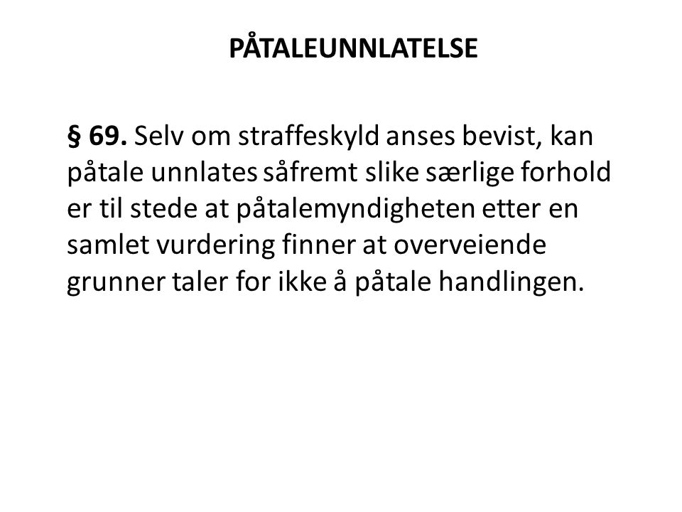 PÅTALEUNNLATELSE