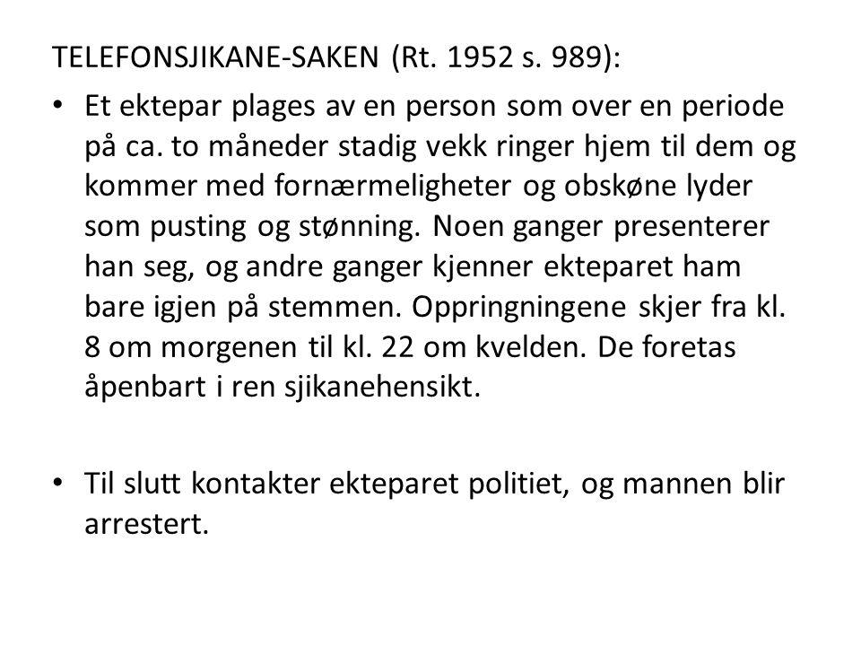 TELEFONSJIKANE-SAKEN (Rt. 1952 s. 989):