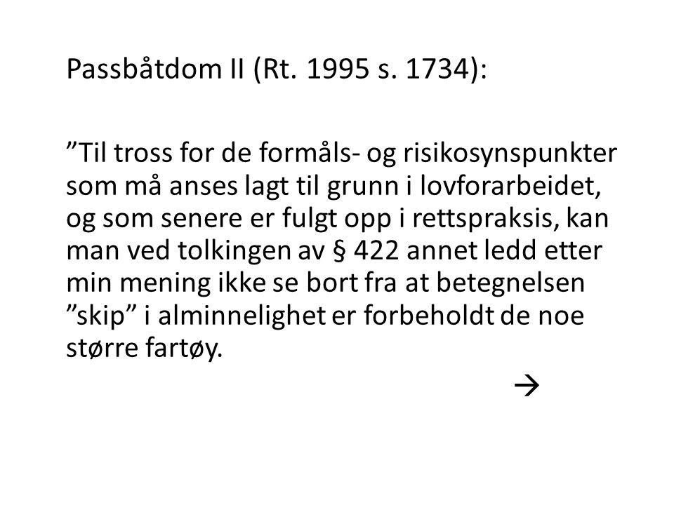 Passbåtdom II (Rt. 1995 s. 1734):