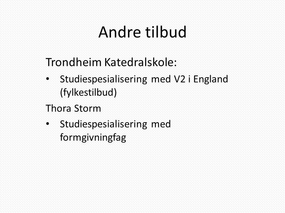Andre tilbud Trondheim Katedralskole: