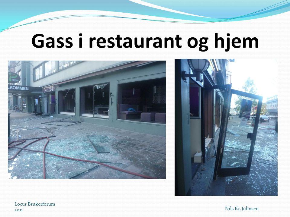 Gass i restaurant og hjem