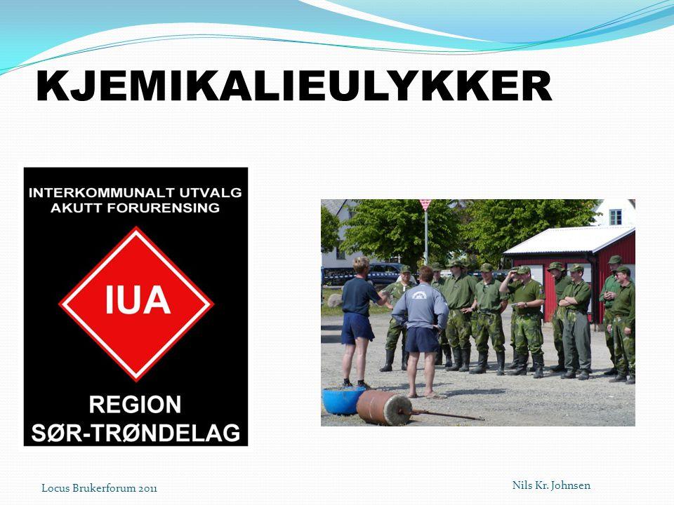 KJEMIKALIEULYKKER Nils Kr. Johnsen Locus Brukerforum 2011
