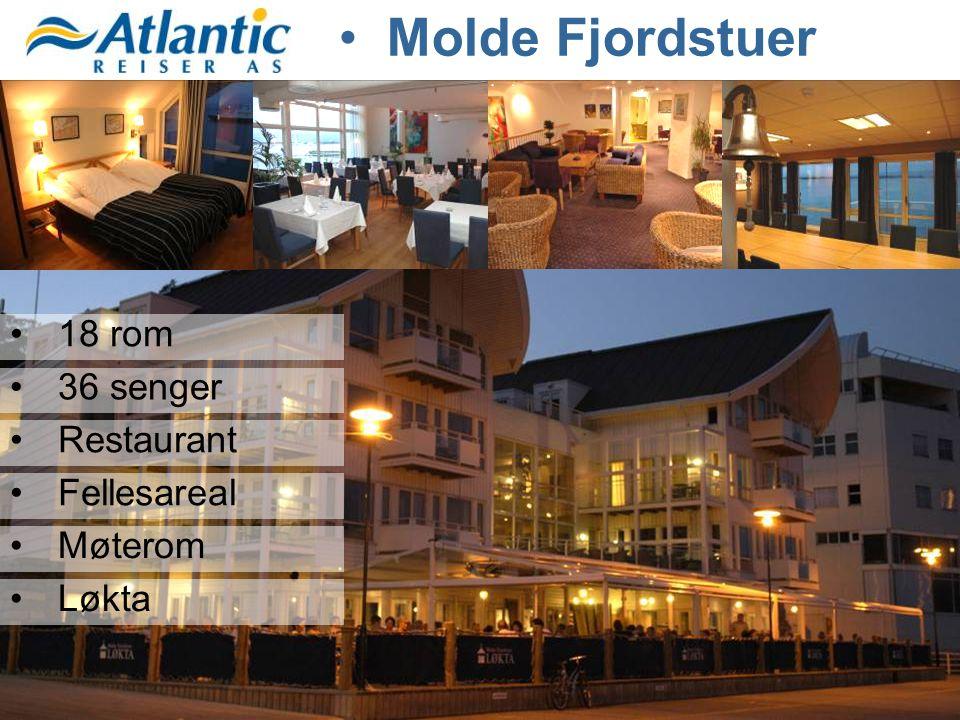 Molde Fjordstuer 18 rom 36 senger Restaurant Fellesareal Møterom Løkta