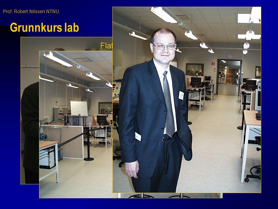Grunnkurs lab Flatskjerm med utstrakt bruk av LabView