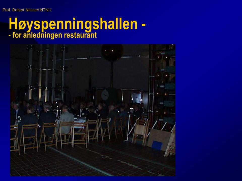 Høyspenningshallen - - for anledningen restaurant