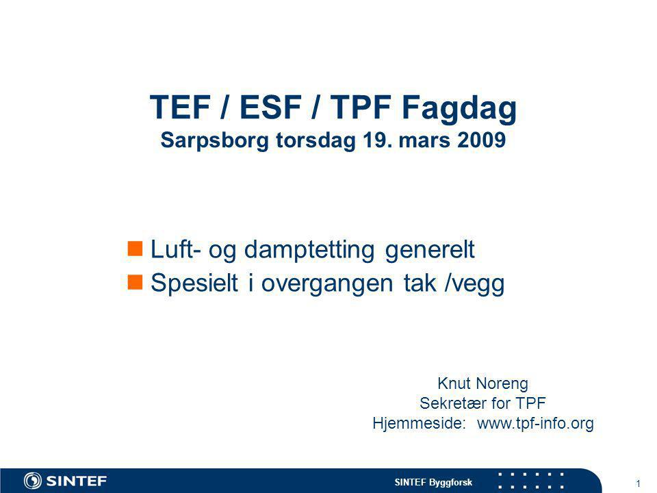 TEF / ESF / TPF Fagdag Sarpsborg torsdag 19. mars 2009