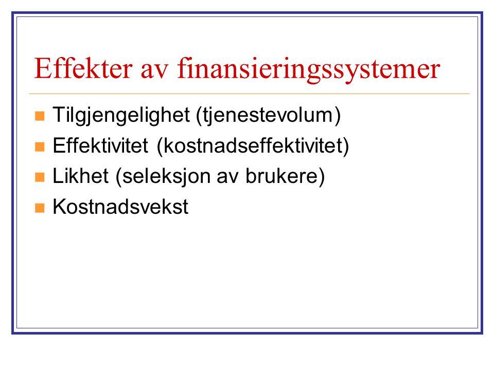 Effekter av finansieringssystemer