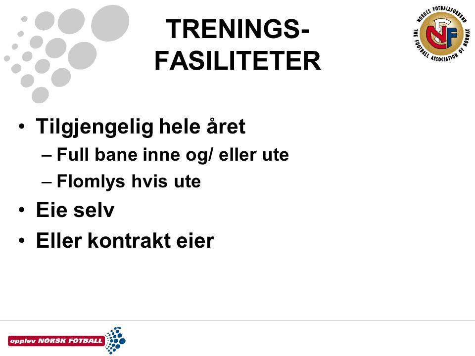 TRENINGS- FASILITETER