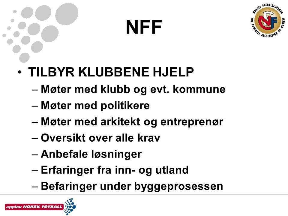 NFF TILBYR KLUBBENE HJELP Møter med klubb og evt. kommune