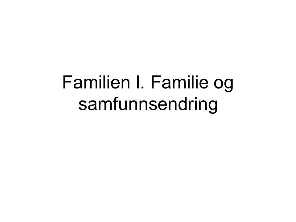 Familien I. Familie og samfunnsendring