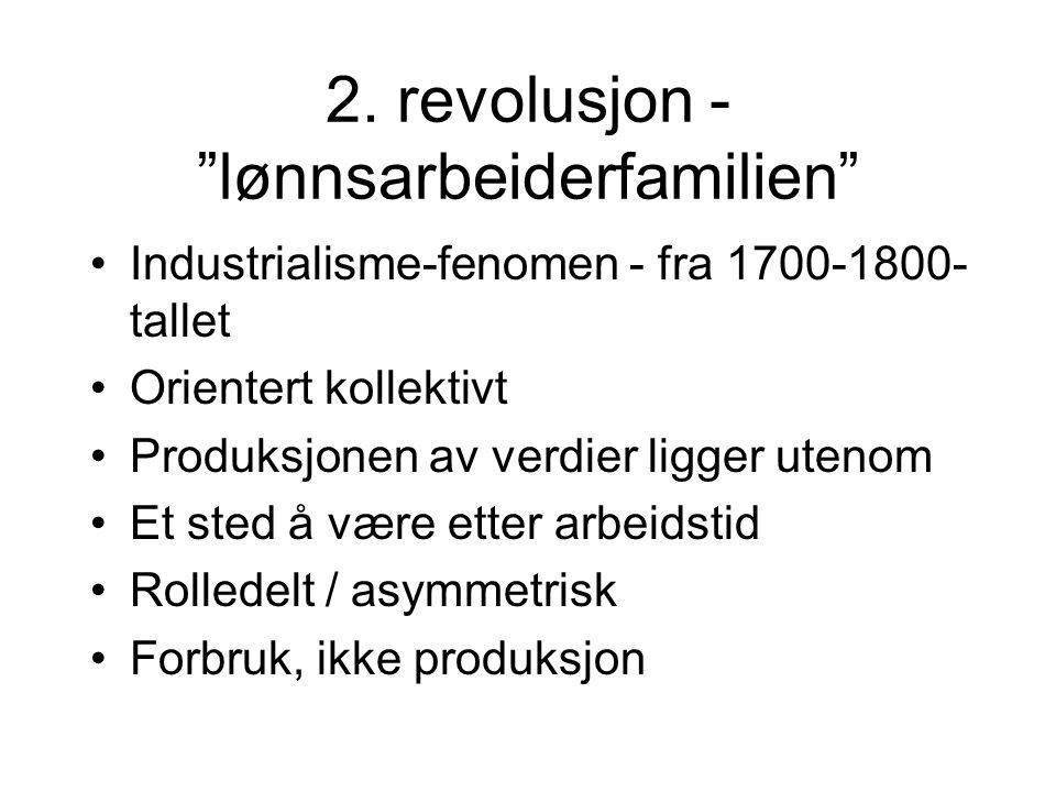 2. revolusjon - lønnsarbeiderfamilien