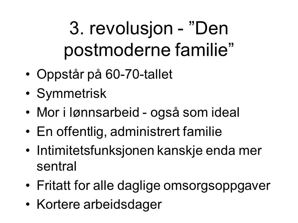 3. revolusjon - Den postmoderne familie