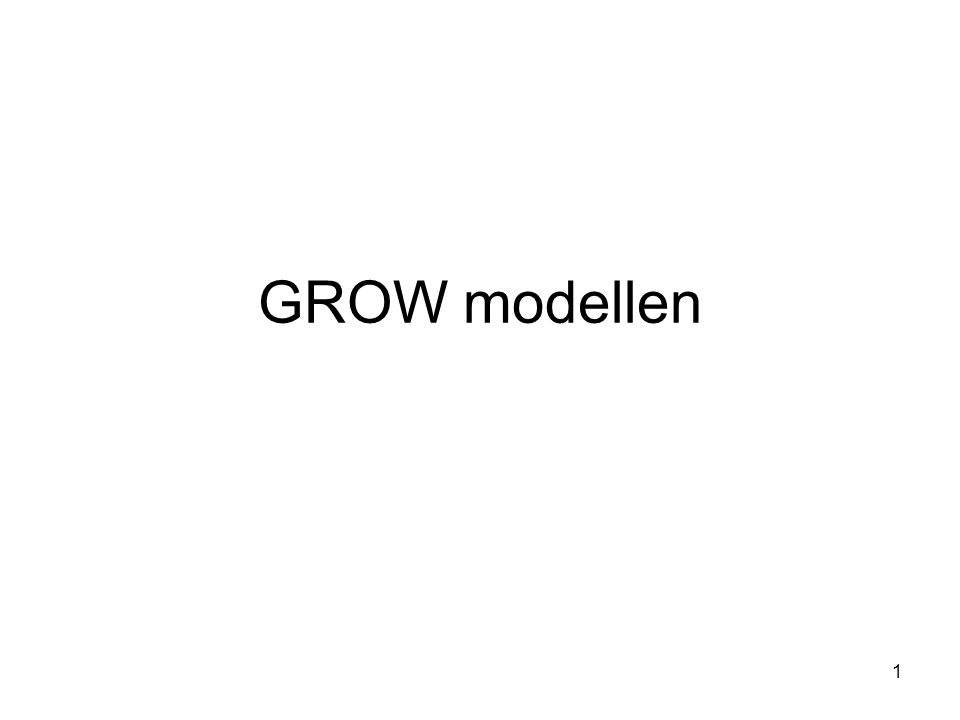 GROW modellen