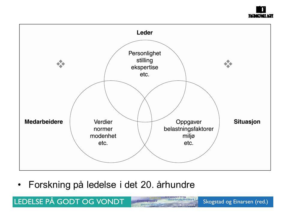 Forskning på ledelse i det 20. århundre