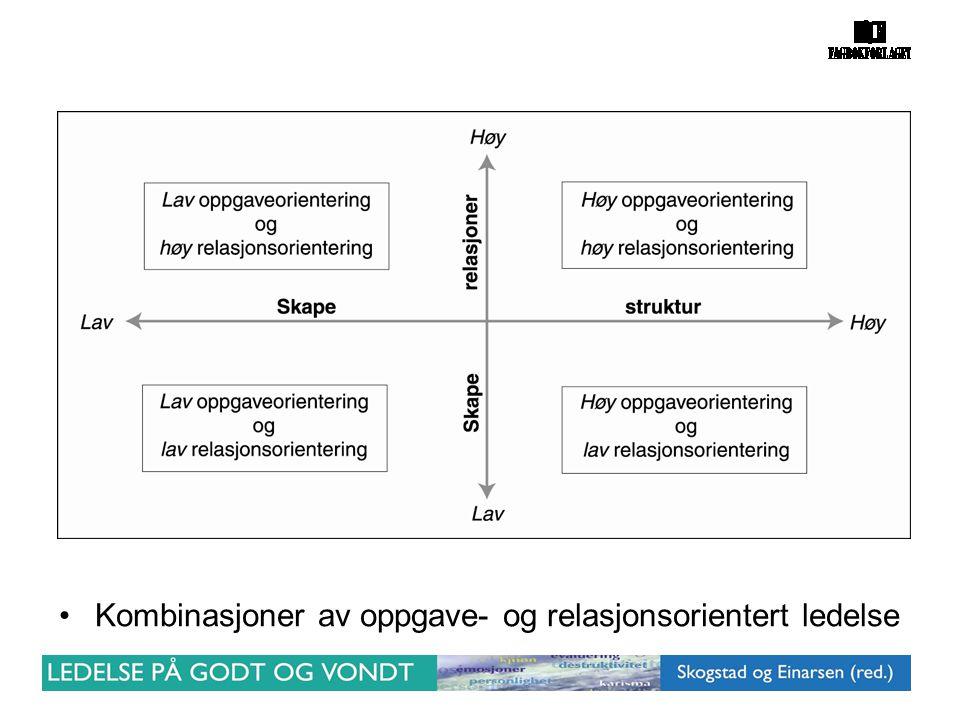 Kombinasjoner av oppgave- og relasjonsorientert ledelse