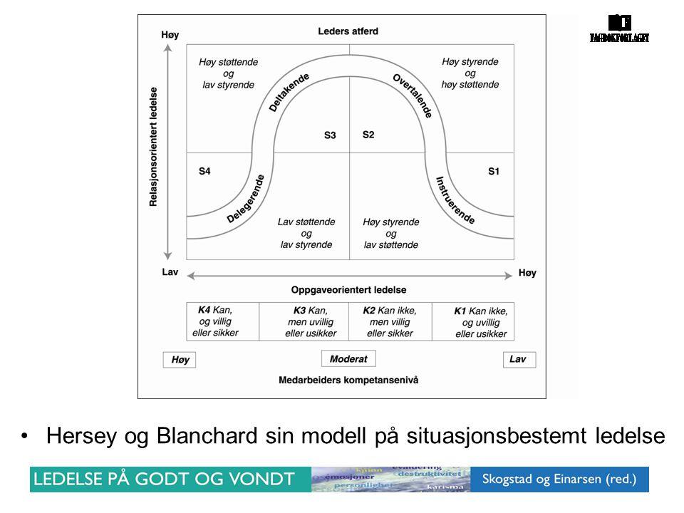 Hersey og Blanchard sin modell på situasjonsbestemt ledelse