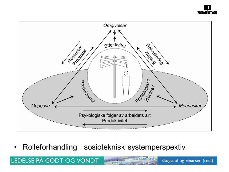 Rolleforhandling i sosioteknisk systemperspektiv