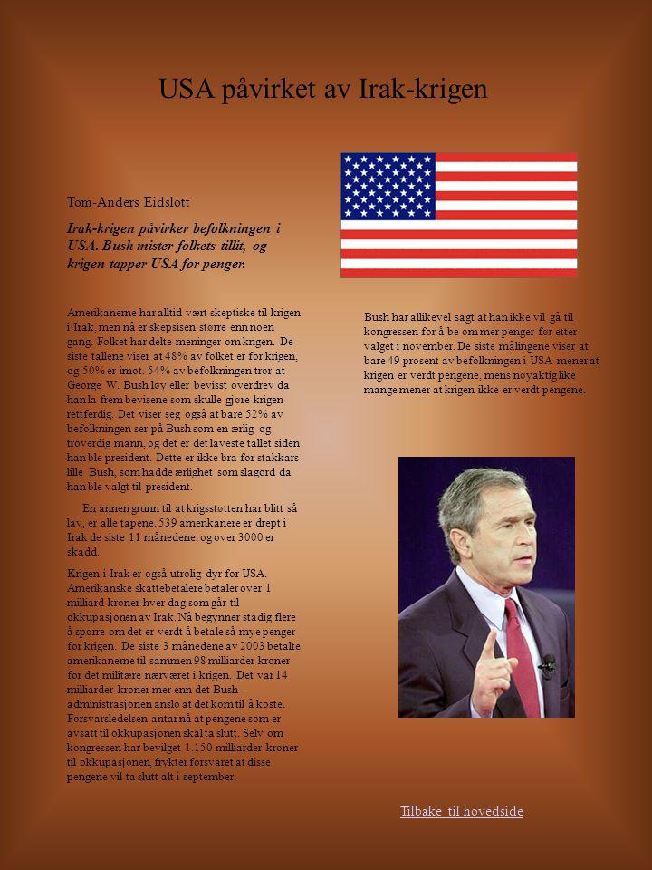 USA påvirket av Irak-krigen