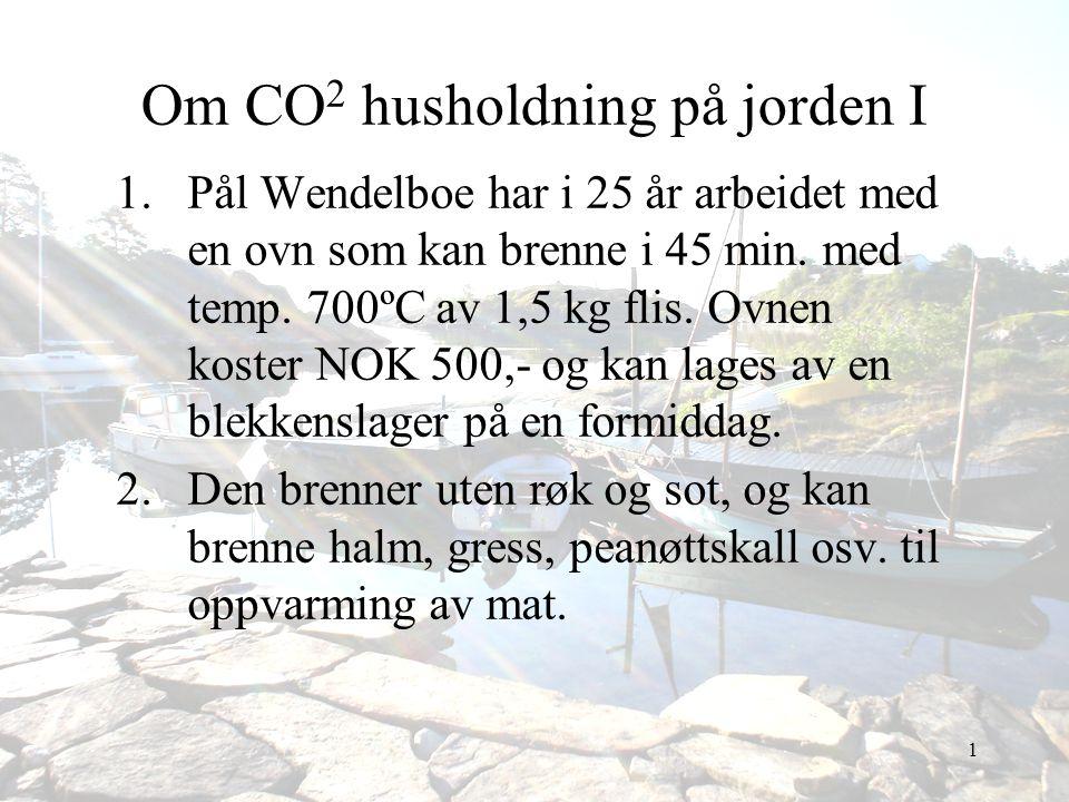 Om CO2 husholdning på jorden I