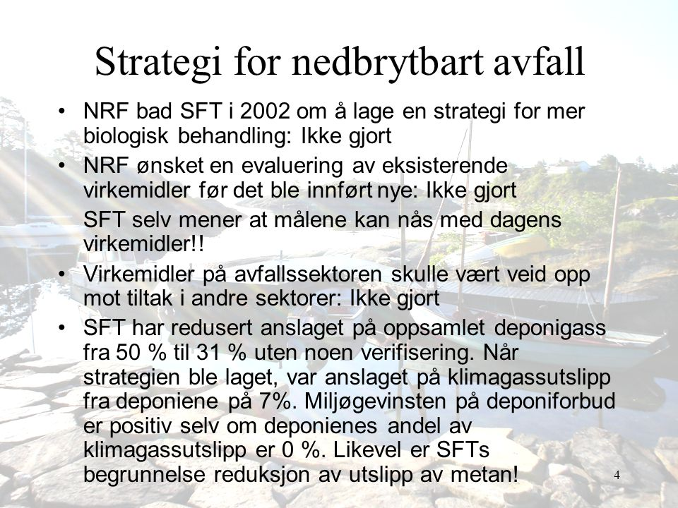 Strategi for nedbrytbart avfall
